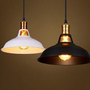 Luminária suspensa led e27, suporte suspensão para restaurante, bar, ferro e estilo industrial