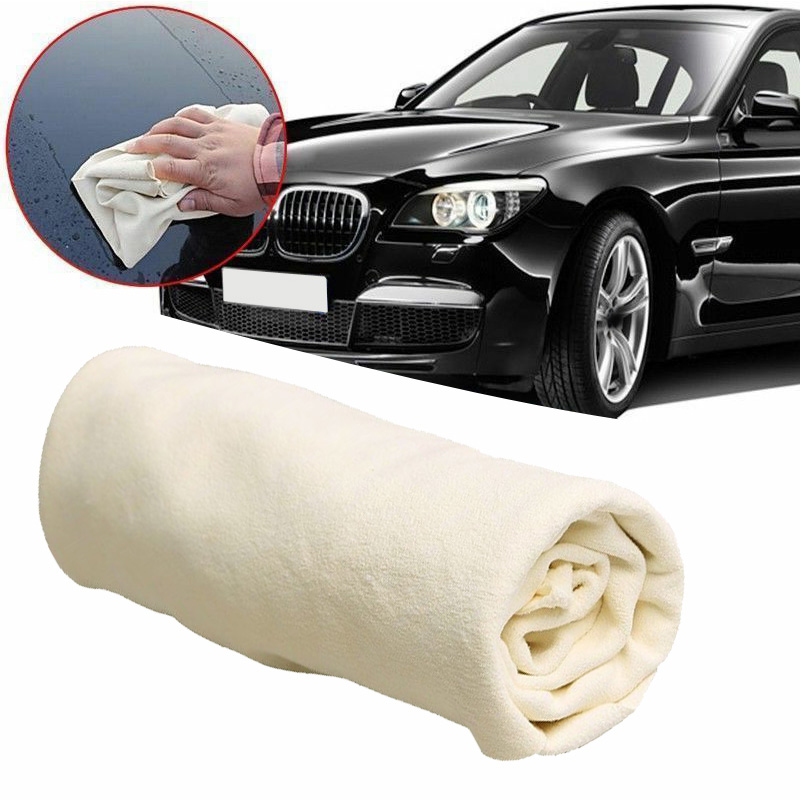 Natural Shammy Chamois Leather Car Cleaning Towels Drying Washing Cloth 25*40cm Car Care Cloth Detailing Car Wash Towel