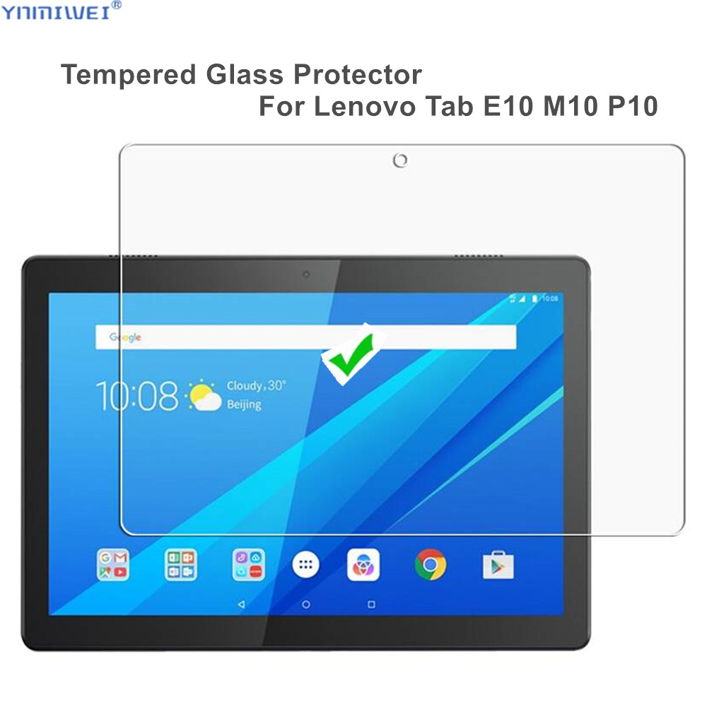 Tempered Glass Screen Protector For Lenovo Tab M10 TB-X605F/L E10 TB-X104F/L P10 TB-X705L/F Glass Film(China)