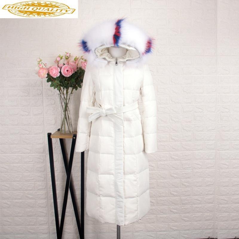 2020 Winter Down Jacket Woman Hooded Korean Long Down Coat Large Fur Collar Warm Puffer Jacket Casacas Para Mujer H8002