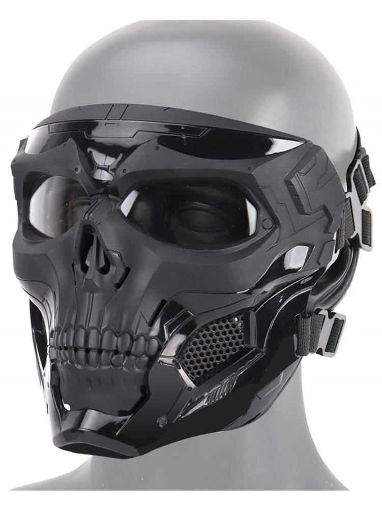 Image 5 - Hot Selling Halloween Skeleton Airsoft Mask Cool Skull Half Face Masks For Game Party Sports Hunting Festival Party DIY Cosplay-in Party Masks from Home & Garden