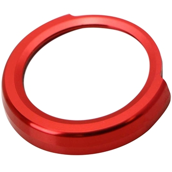 Red Aluminum Keyless Engine Push Start Button Decoration Ring Trim for BMW 2 3 4 Series X1 (F22 F30 F32 F34 F48) image