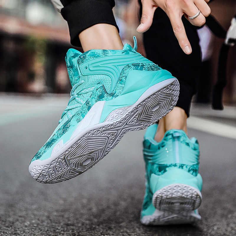 สไตล์ใหม่บุรุษรองเท้าบาสเกตบอลรองเท้าผ้าใบบาสเก็ตบอลคู่ผสมสีBreathableกีฬารองเท้าFitness Trainers