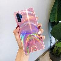 Arco Iris cajas del teléfono para Samsung Galaxy S21 S20 FE S10 S8 S9 Nota 20 Ultra 10 Plus A52 A72 A32 A42 A12 A51 A71 A50 A70 cubierta de la Caja