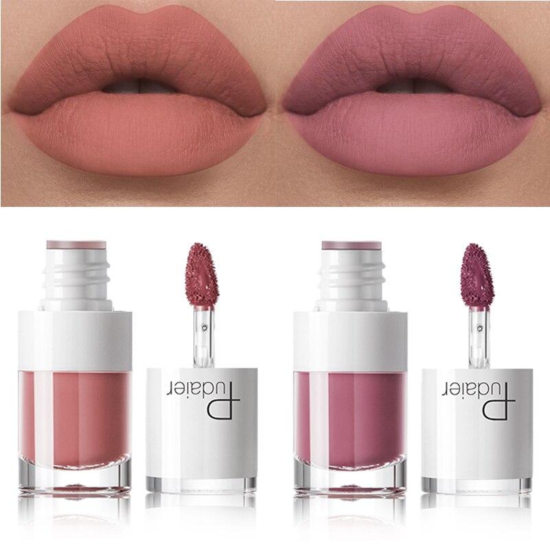 Liquid Matte Lipstick Waterproof Red Makeup Long-lasting Matte Lip Tattoo Rich Lip Gloss Rouge Makeup Tools