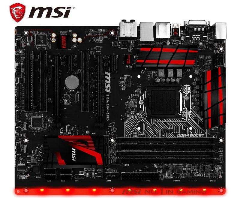 original motherboard for MSI B150A GAMING PRODDR4 LGA 1151 USB2.0 USB3.1 64GB for 7500 7700K B150 USED Desktop motherboard