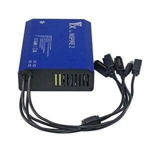Image 5 - Cargador para Dron 5 en 1 inteligente Inspire 2, para control remoto de batería, Carga rápida inteligente piezas de repuesto del concentrador, carga a la vez
