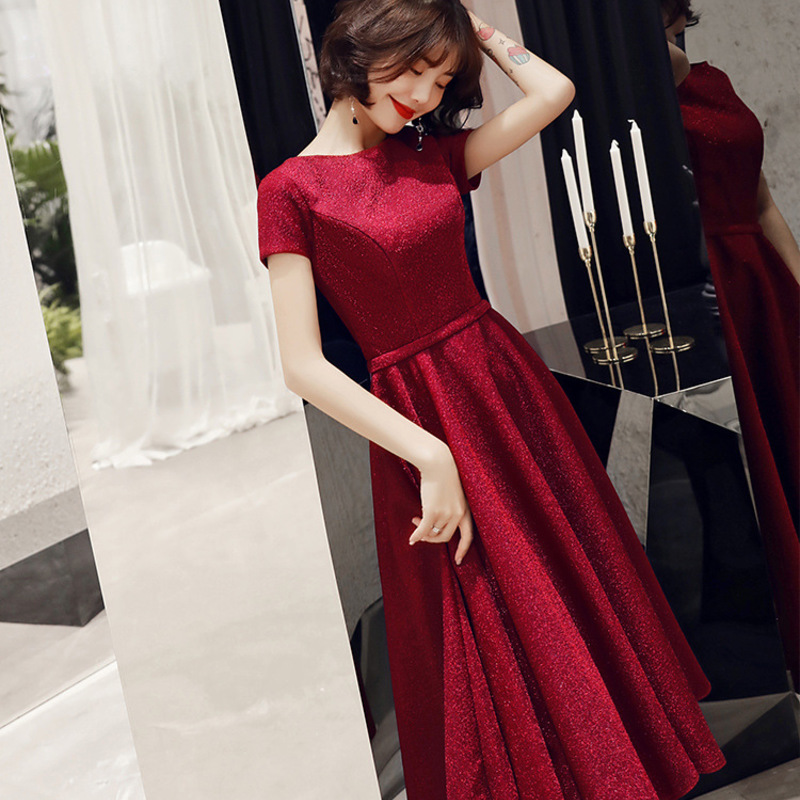 2019 Hot Sale To The Bride Take New 2020 Autumn/winter In Long Recalls Appreciation Banquet Engagement Dress Show Thin