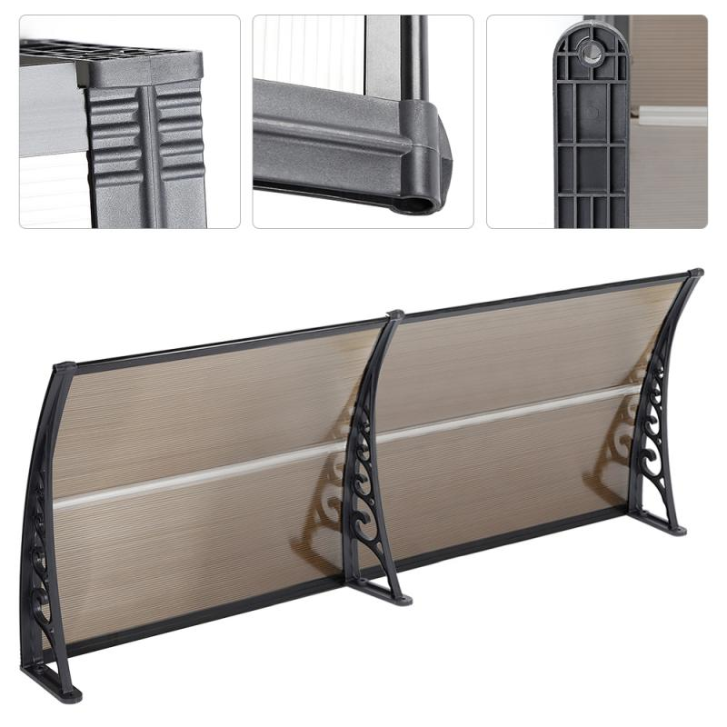 Outdoor Front Door Window Awning Patio Cover Canopy Multi-size Durable Door Canopy Awning Poly Door & Window Gazebos HWC