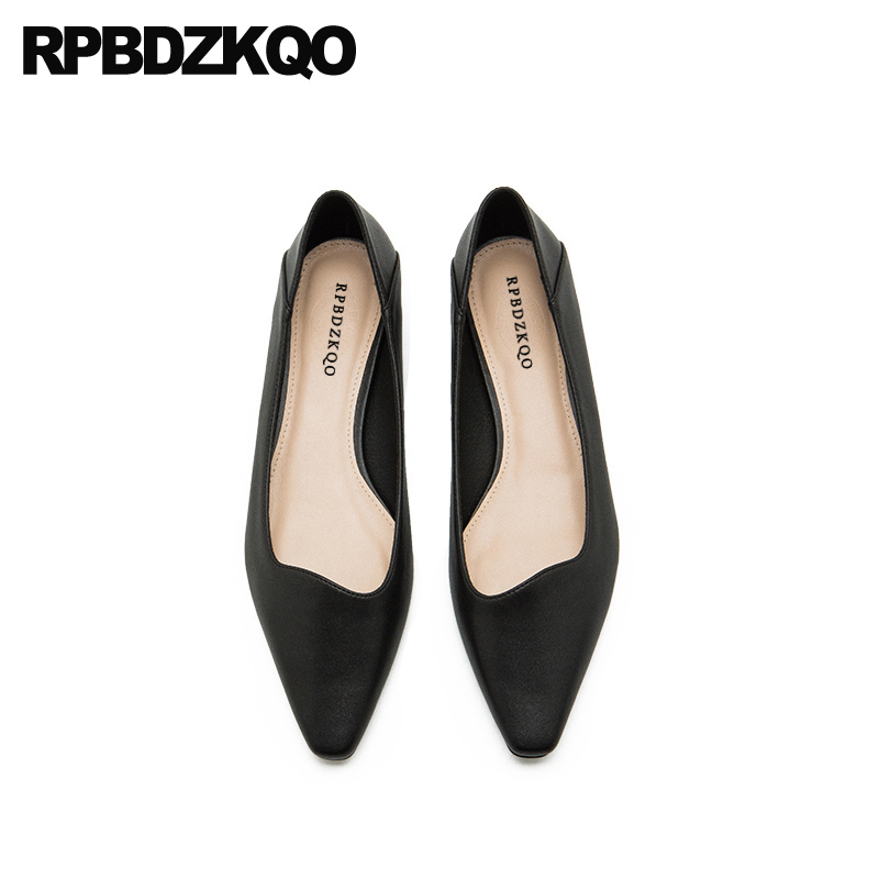 pointed toe large size red brand designer shoes women luxury 2019 spring autumn flats china shallow ladies black chinese slip on
