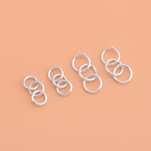 925 sterling silver jewelry accessories, three-loop extension chain, bracelet necklace extension chain, handmade DIY materials()