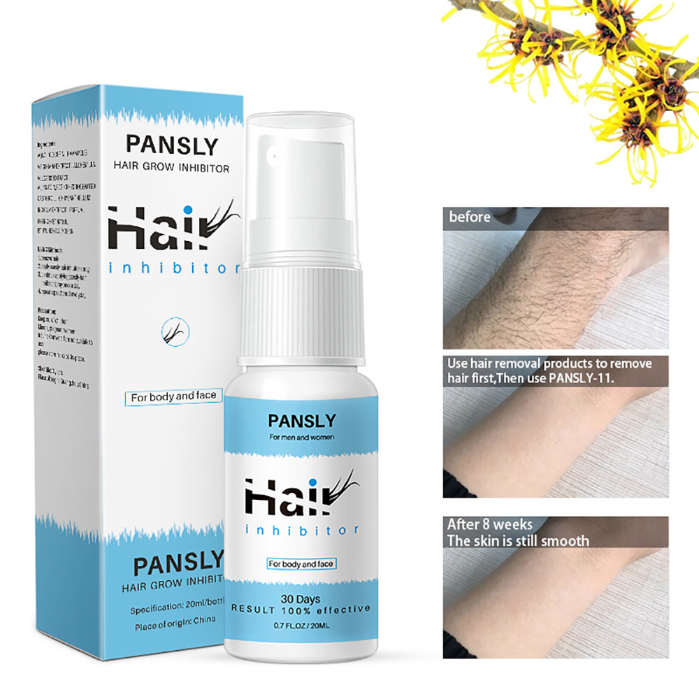 20ML Permanent Painless Hair Removal Spray Stop Hair Beard Legs Armpit Growth Inhibitor Shrink Pores Skin Smooth Repair Essence