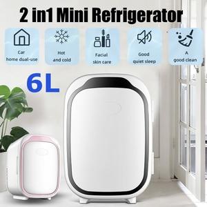 6L 220V Home/Car Refrigerator Automoble Fridge Refrigerators Freezer Cooling&Hot Box frigobar Food Fruit Storage Fridgeator