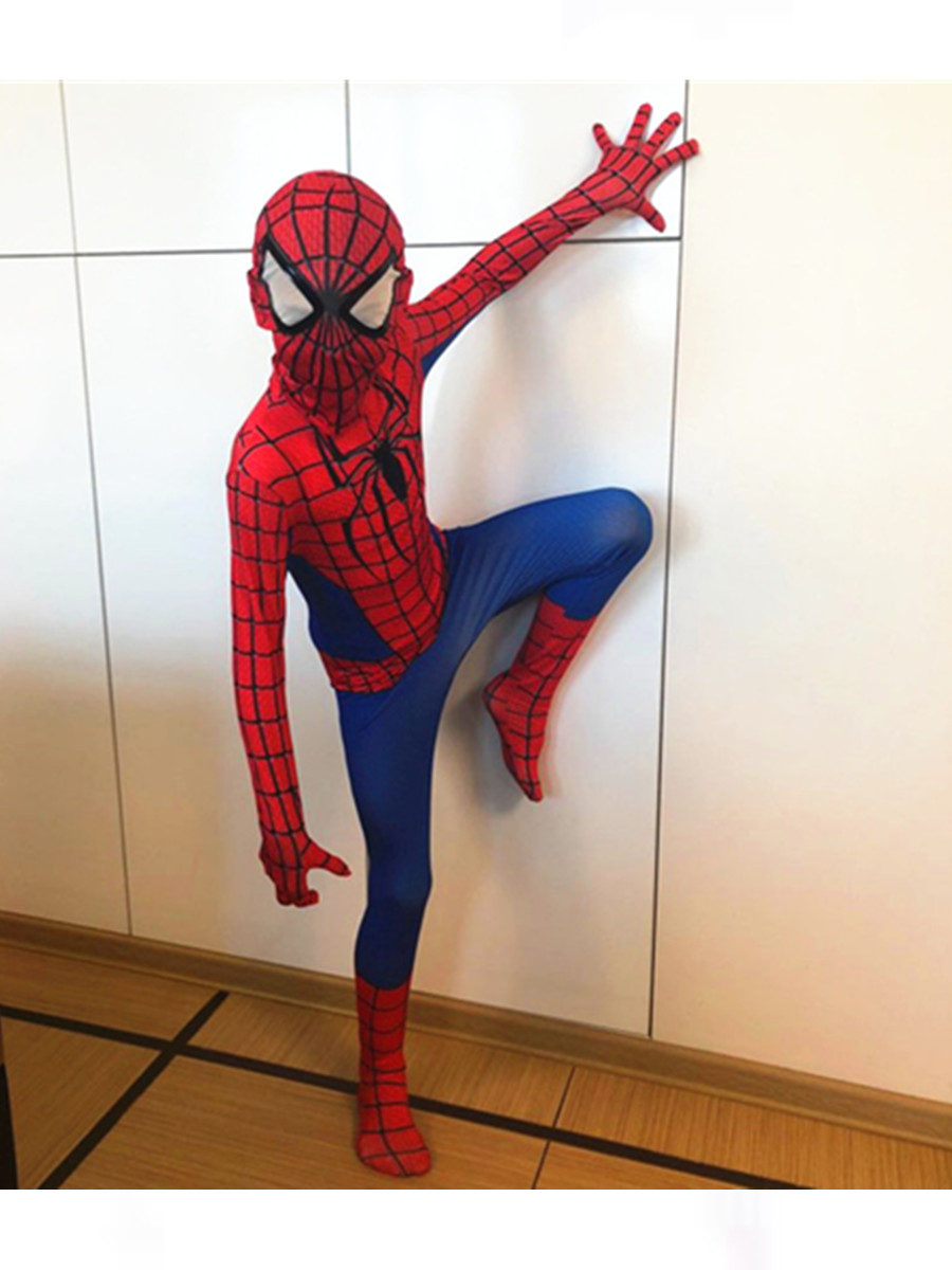 24 Hours Ship Spiderman Cosplay Costume Halloween Kids Boys Girls 3D Man Miles Morales Costume Suit Spandex