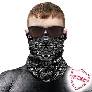 Image 5 - 3D Волшебная Балаклава, маска для лица, мотоциклетная маска для шеи, гетры для мотокросса, дышащая бандана, Байкерская бандана для мужчин и женщин