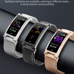 Image 2 - ONEVAN Smart Watch Heart Bracelet Blood Pressure Oxygen Monitor Weather Activity Tracker Women Fitness Bracelet With Metal Band