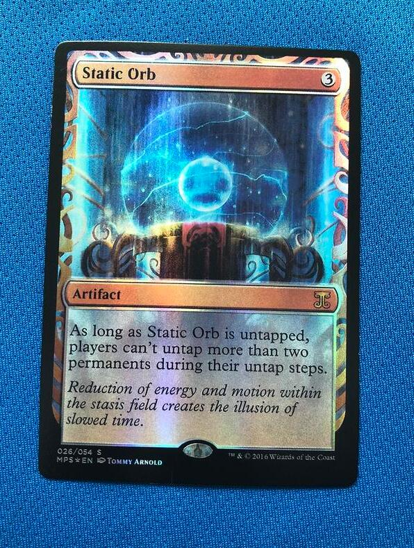 Static Orb Kaladesh Inventions Foil Magician ProxyKing 8.0 VIP The Proxy Cards To Gathering Every Single Mg Card.