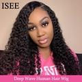 Парики из натуральных волос  волнистые  HD прозрачные  150%  13X4  ISEE