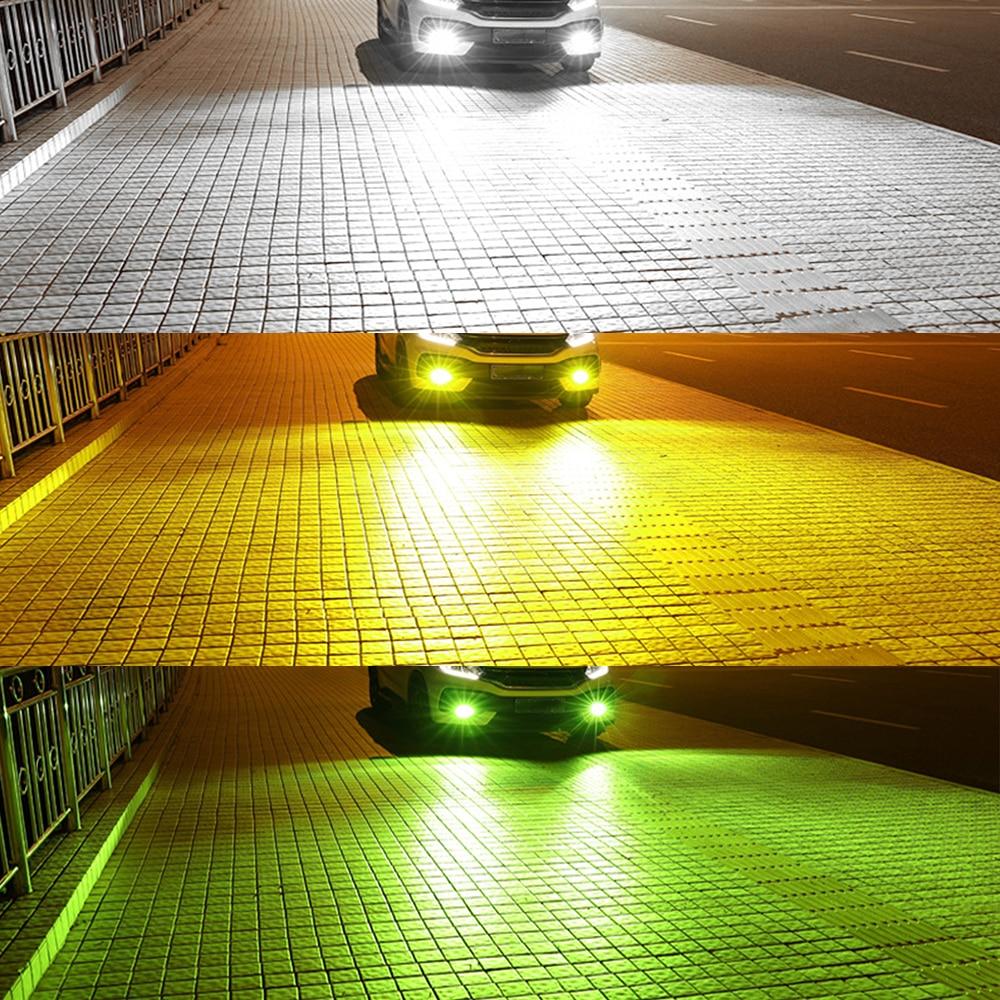 BraveWAY H11 светодиодный автомобильный противотуманный фонарь H1 H3 H4 H7 HB3/9006 HB4/9006 H27 Авто Противотуманные фары DRL светодиодный аксессуары для ламп...