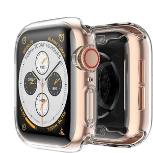 Slim Watch 360 Cover for Apple Watch Case 6 SE 5 4 3 2 1 42MM 38MM Soft Clear TPU Screen Protector for iWatch Series 5 44MM 40MM