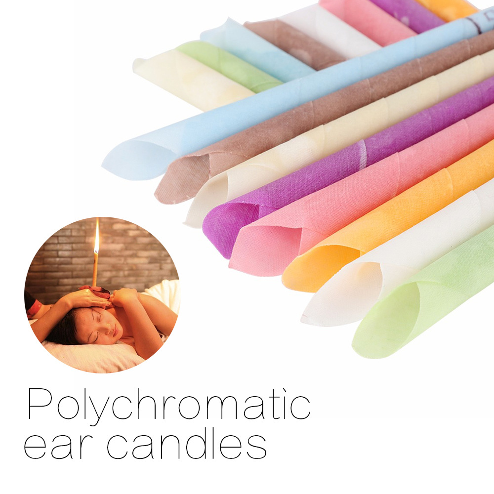 10Pcs Ear Wax Cleaner Removal Indian Coning Fragrance Ear Candles Healthy Care Ear Care Random Color Ear Cleaning Tool