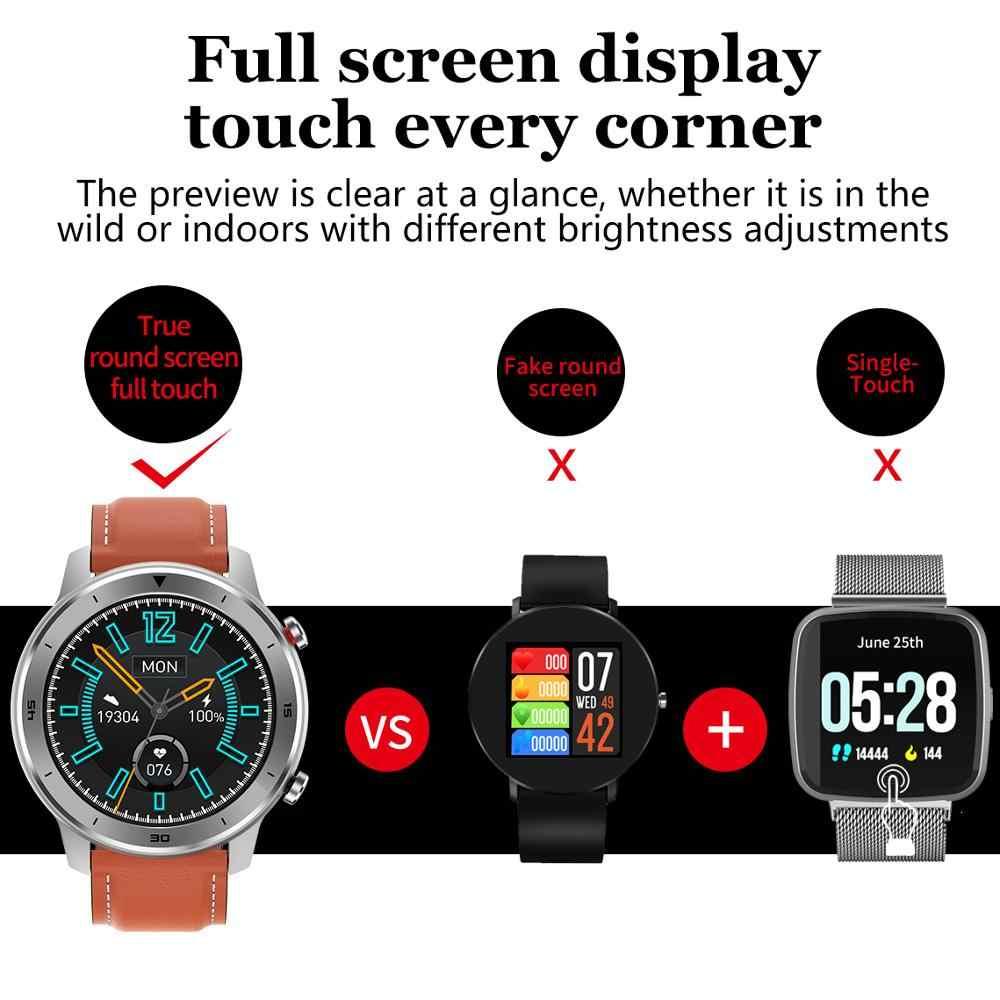 Lige 2020 novo relógio inteligente à prova dwaterproof água dos homens freqüência cardíaca monitoramento de pressão arterial tela sensível ao toque cheia música esporte controle smartwatch