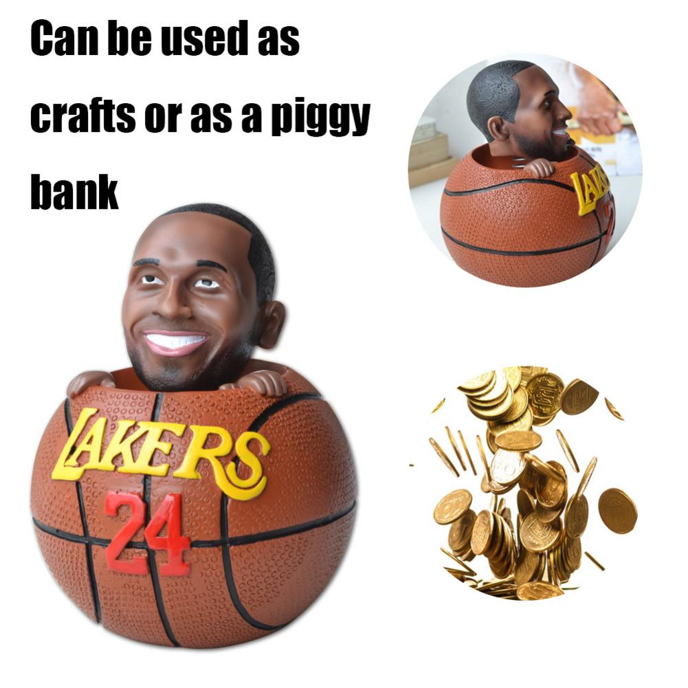 Basketball Star Piggy Bank Toys 24 Number Kobe Bryant Commemorative Shape Piggy Bank Support Dropshipping Wholesale Fast Ship
