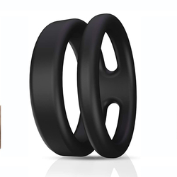Multi Wearing Ways Silicone Cock Dual Ring,Longer Lasting Erection Enhancing Ring for Man or Couple's Play Massage Tools