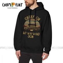 Hoodie Man Supernatural Printed Dark-Heather Vintage 100%Cotton Humor Carry Wayward My
