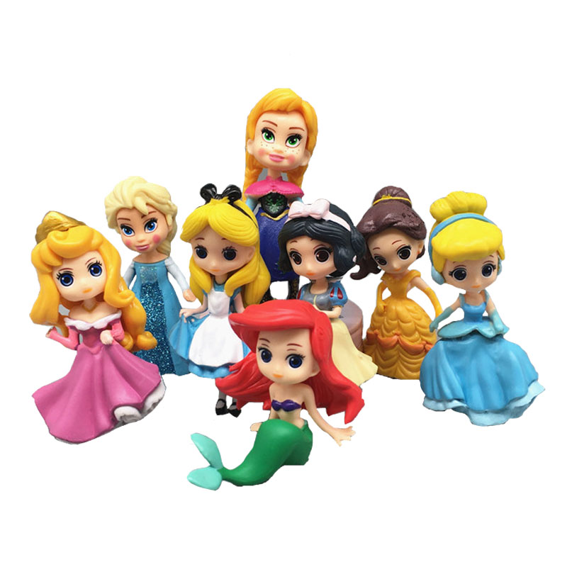 Sales! New princess Sofia Rapunzel doll beauty Belle Mermaid dolls toy set gifts for girls