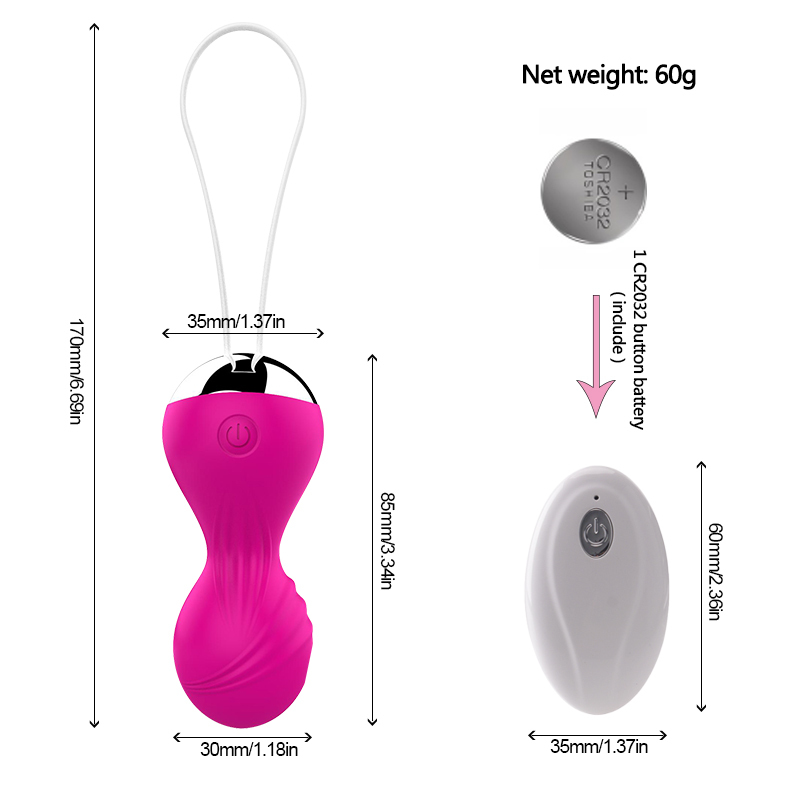 Egg Tighten Vaginal Kegel Balls Wireless Remote Control Ben Wa Ball Vibrator Geisha Ball Simulator Sex Toys For Women in Vagina Balls from Beauty Health