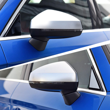 A3 8v S3 Side Wing Mirror Cover Shell Caps Fit For Audi Silver Aluminium Matte Chrome 2015  Replacement