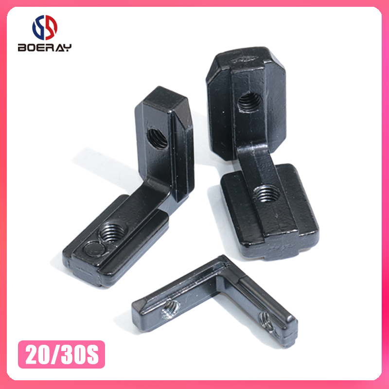 20pcs L Shape Black Inner Corner Connector Joint Bracket For 2020 3030 Series Aluminum Profile With Screw And Wrench Tool
