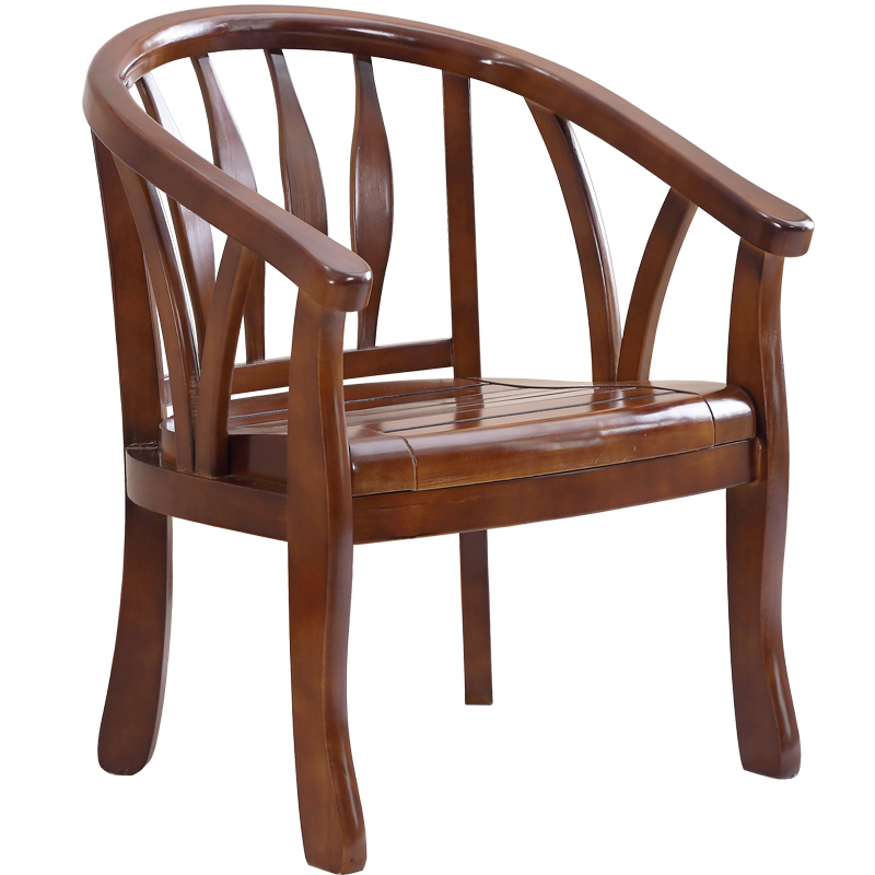 Solid Wood Chair Backrest Chair Modern Chinese Style Single Chair Bedroom Balcony Chair Hotel Chair Old Chair Round Chair