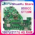 Kefu X550CC для ASUS X550CA R510C Y581C X550C X550CL Материнская плата ноутбука 1007U/2117U Процессор 4G протестированы 100% работу оригинальная материнская плата