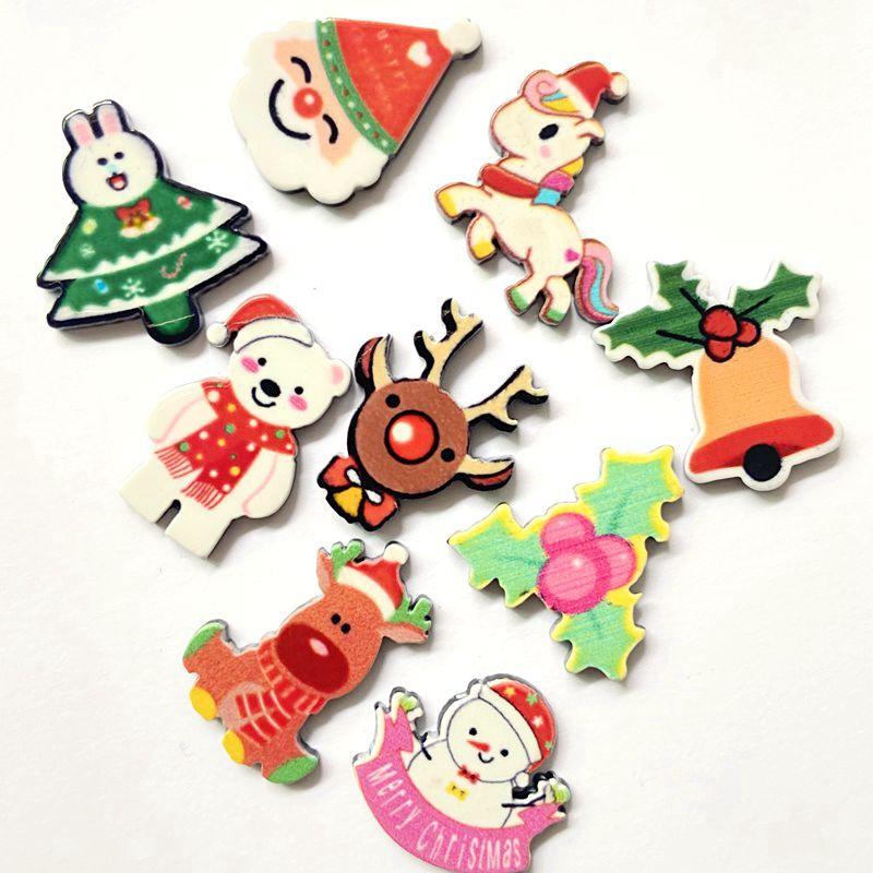 50 шт/лот Рождественский смешанный акриловый лист миниатюрный