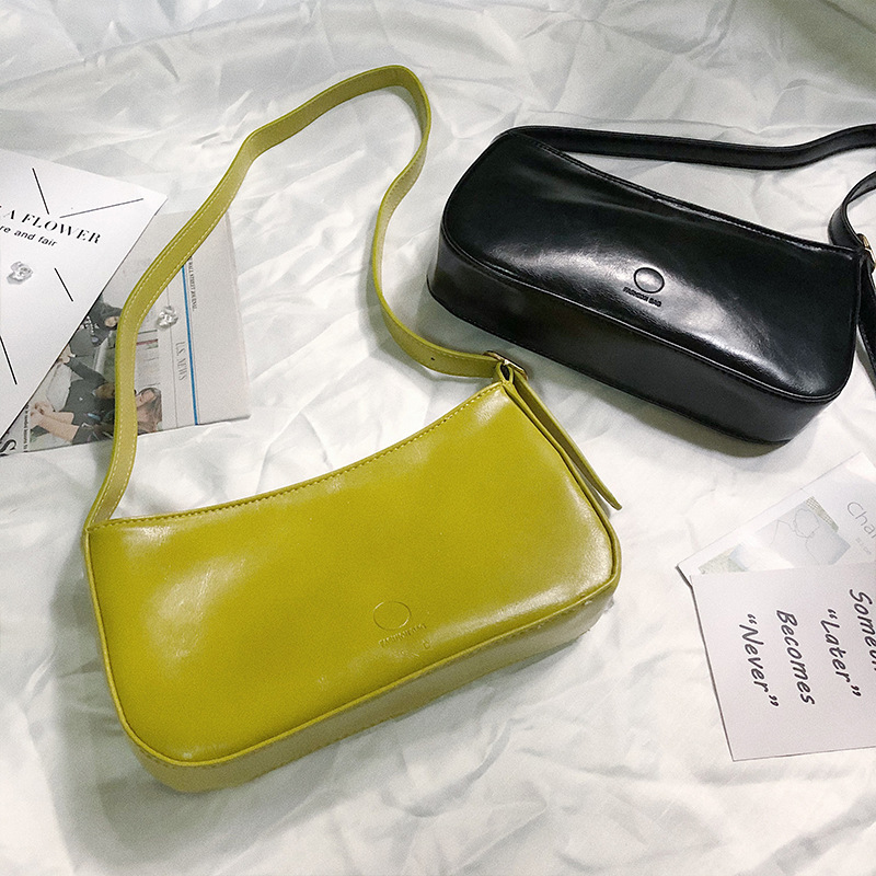 Women Bag Soft Leather  Shoulder Bag Vintage Small Messenger Bags For Women 2020  Handbag And Purse Solid Color Ladies Totes