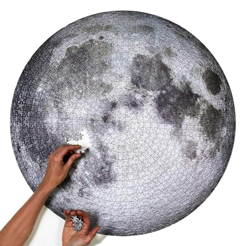 1000 Pieces Challenging Jigsaw The Moon Earth 3D Puzzles Educational Toys For Parent-kids