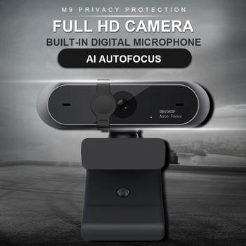 En Stock 1080P/720p HD Mini ordinateur Webcam caméra réglable rotative anti-peeping pour le travail de vidéoconférence en direct