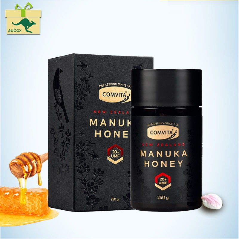 Newest NewZealand Comvita Manuka Honey UMF20+ 250g for Digestive Immune Health Respiratory System Coughs Sooth Cough Sore Throat