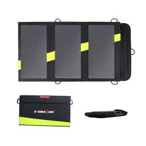 Image 1 - 20W 5V güneş enerjili telefon şarj cihazı çift USB çıkışı taşınabilir GÜNEŞ PANELI iPhone Samsung Xiaomi Huawei için akıllı telefonlar