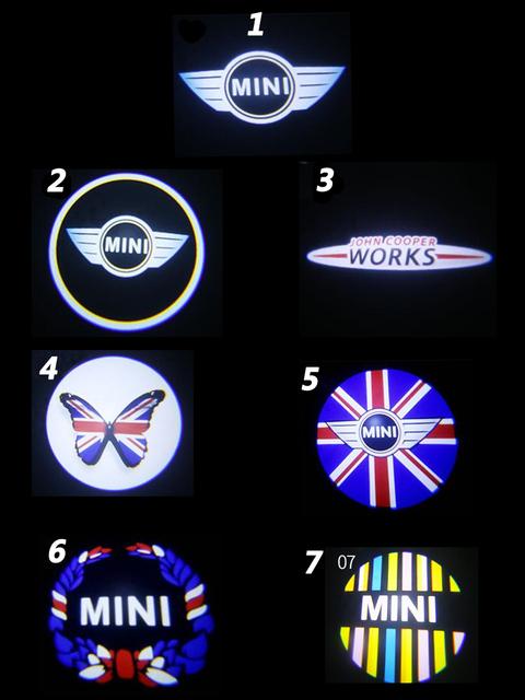2 sztuk światło LED na drzwi samochodu dla Mini Cooper JCW R57 jeden S R50 R53 R56 R60 F55 F56 R58 R59 Clubman Countryman Paceman działa projektor tanie i dobre opinie MASHA CN (pochodzenie) Światło na powitanie