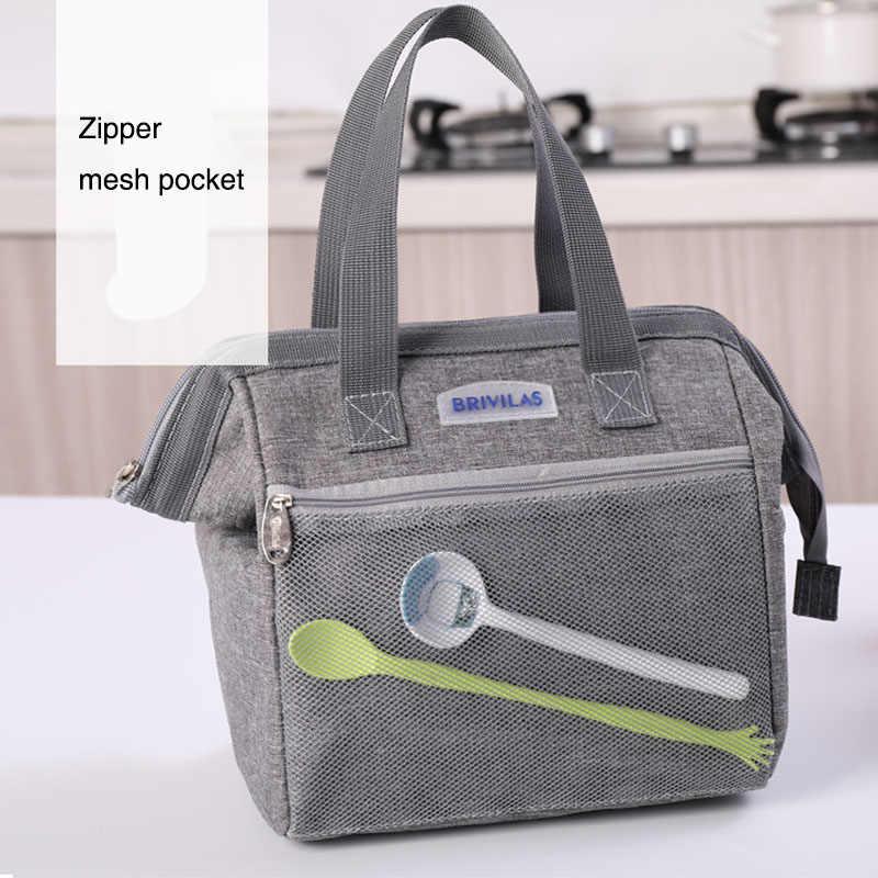 Tragbare Mittagessen Tasche Männer Frauen Thermische Isolierte Mittagessen Box Tote Kühler Handtasche Bento Beutel Abendessen Lebensmittel Lagerung Tasche für Kinder