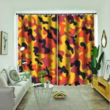 orange flower curtains Customized 3d curtains new bay window balcony thickened windshield blackout curtains цена 2017