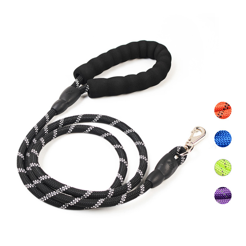 Pet Supplies Reflective Multi-color Round Rope Dog Hand Holding Rope Hand Guard Hand Holding Rope Dog Chain Rope Medium Large Do