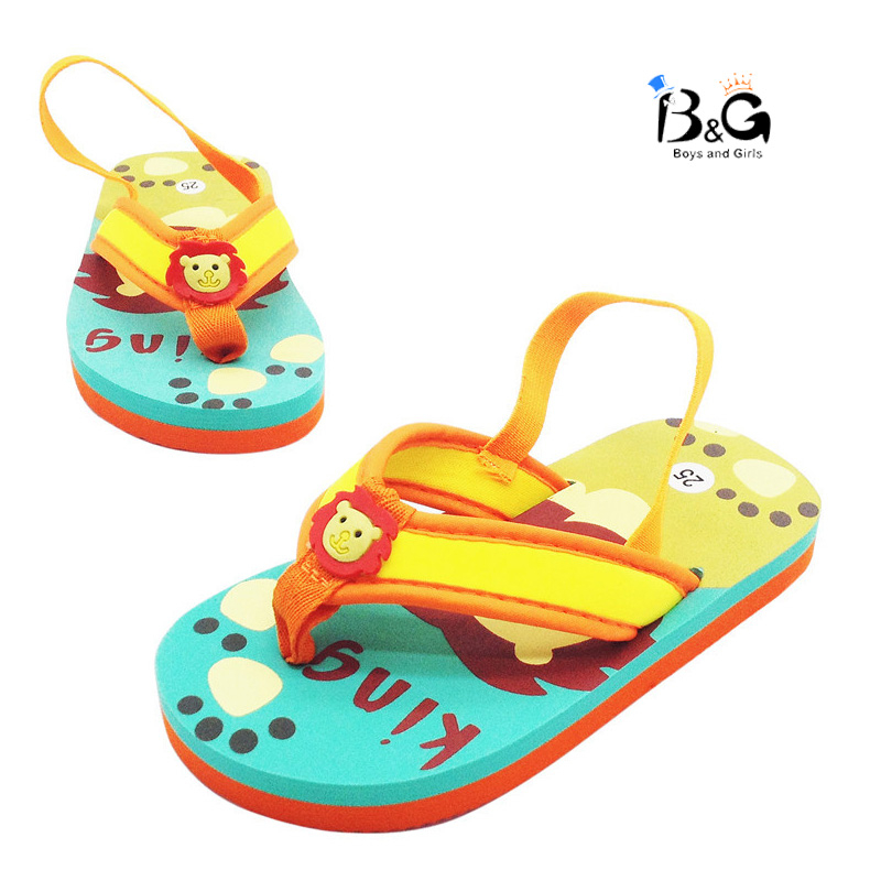 B&G Anti-slip Flip Flops Water-proof Soft Kids Beach Slippers Cartoon Kids Sandals Beach Shoes Baby Eva Slids