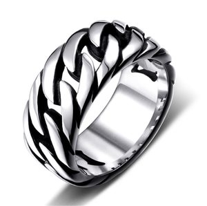 Unique Vintage Ring Men Link Chain Ring For Men Trendy Classic Luxury Ring For Male Fashion