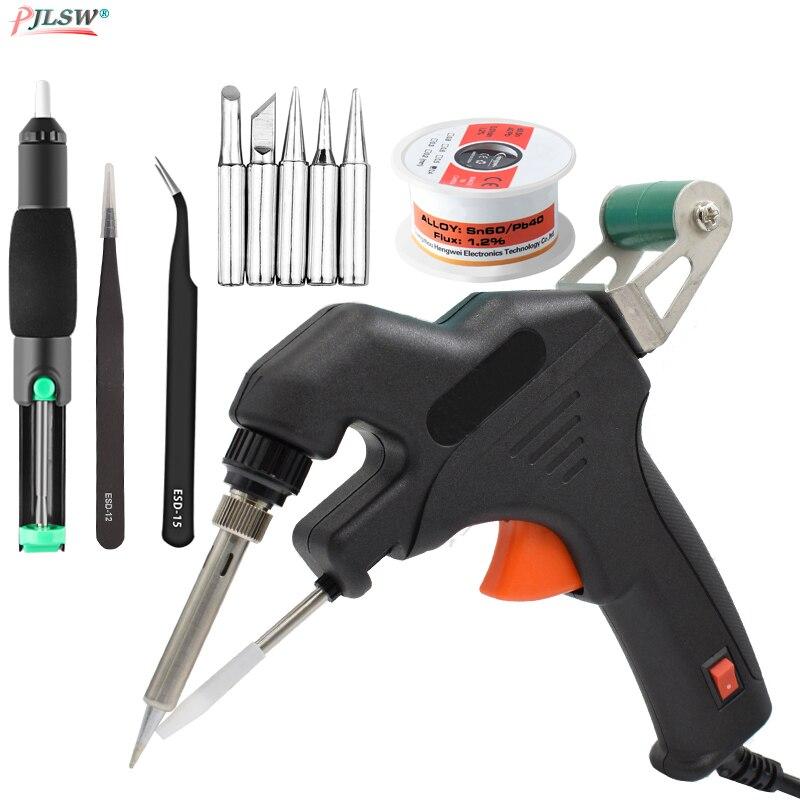 50W EU/US 110-220V Electric Soldering Iron Kit Internal Heating Gun Handheld Automatically Send Tin Welding Station Repair Tools