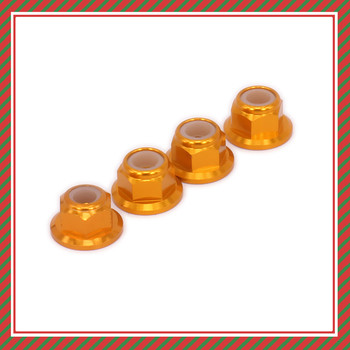 4PCS Aluminum Wheel Lock Nut 4mm M4 For Rc Model Car 1-12 Wltoys 12428 12423 Desert Buggy Cnc Machined Hopup Parts Upgraded Part image