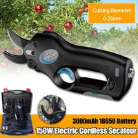 12V Wireless Cordless Electric Rechargeable Scissors Pruning Shears Tree Garden Tool branches Pruning Tools w/ Li ion Battery